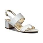 Sandály SAGAN - 2695 Biały Lakier
