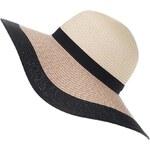 Slaměný klobouk s černým lemem Vero Moda Kattie