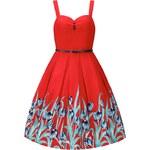 Retro šaty Lindy Bop Bernice Red Tulip