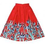 Retro sukně Lindy Bop Adalene Red Tulip