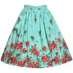 Retro sukně Lindy Bop Adalene Mint Rose