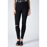 Topshop Schwarze MOTO Jamie Jeans in Destroyed-Optik Tall-Größe