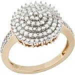 Große Größen: firetti Ring mit funkelnden Diamanten, goldfarben, Gr.16 = 50 mm Umfang-19 = 60 mm Umfang