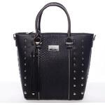 Černá luxusní kabelka s cvočky David Jones Margery černá