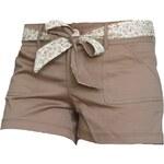 MOA COLLECTION U.S.A. Dámské šortky MOA - hnědé P8976LB