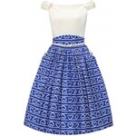 Retro šaty Lindy Bop Carla Blue Heart
