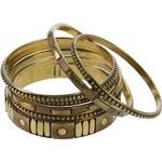 náramek Sittar Bela 7 Pack - Brown/Gold