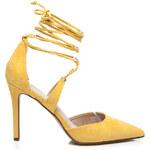 Neodolatelné vázané žluté lodičky 36