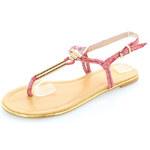United Fashion Červené sandály Amiretta