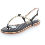 United Fashion Černé sandály Monterie