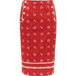 Voodoo Vixen Pouzdrová sukně Kotvičková láska, červená