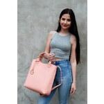 PURE LONDON Růžová kabelka Pure De Luxe