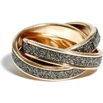 GUESS GUESS Gold-Tone Intertwined Glitter Ring - gold