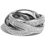 GUESS GUESS Silver-Tone Intertwined Glitter Ring - silver