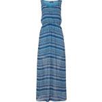 Lesara Langes Ethno-Kleid mit Allover-Print - Blau - S