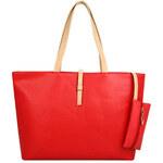 Lesara Shopper mit kleiner Tasche - Rot