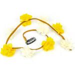 Lesara Haarschmuck mit Blumen - Gelb