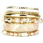 Bracelets Multiples Dorés OYS Perles, - Cendriyon