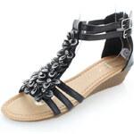 Ideal Černé platformové sandály Otava