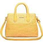 Kabelky na léto, malá kabelka Kaytie Wu v háčkovaném designu žlutá