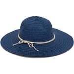 Art of Polo Dámský modrý letní klobouk se zlatou mašlí cz16109.4