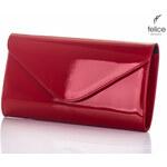 Dámská vínová kabelka Felice Clutch (F08GCZE) odstíny barev: červená