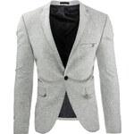 Pánské šedé sako (mx0231) velikost: XXL, odstíny barev: šedá