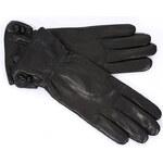 Dámské kožené černé rukavice ALASKA (r6aM) odstíny barev: Černá