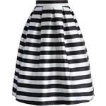 CHICWISH Dámská sukně Midi Chic proužek