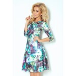 NUMOCO Dámská vzorované šaty s 3/4 rukávem, size L, color Barevná, pattern Květinový