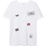 MANGO T-Shirt Empiècements Décoratifs
