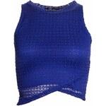 Glamorous by Glam Dámský crop top se vzorem - modrá