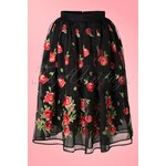 Dancing Days by Banned 50s Bettie Floral Skirt in Black