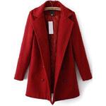 SHEIN Dámský kabátek Colar červený