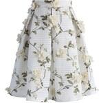 CHICWISH Dámská sukně Midi Nech ji kvést! Velikost: M