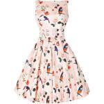 LADY VINTAGE Dámské retro šaty MACAW s ptáčky