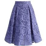 CHICWISH Dámská sukně Midi Camellia fialková