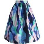 CHICWISH Dámská sukně Midi Námořníkova fantazie