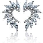Meucci Elegantní stříbrné náušnice se zirkony