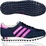 Adidas Shoe Womans La Trainer W Women Low Sneaker Navy Purple