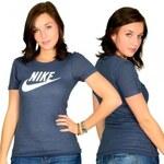 Nike Pr Icon Ss Crew Women T-shirt Navy White