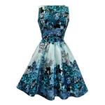 LADY VINTAGE Dámské šaty Modrá růže Velikost: 48