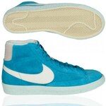 Nike Wmns Blazer Mid Suede Vntg Women High Sneaker Sky Blue