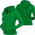 Urban Classics Ladies Zip Hoody Women Zip Hoodie Dark Green