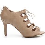 VICES Módní dámské béžové kotníčkové boty