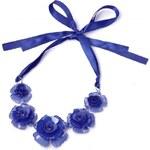 Jewelcity Náhrdelník Flowerka, celý modrý