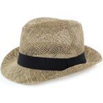 Saxana Tmavě béžový klobouk Lilly