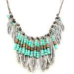 Lesara Statement-Halskette mit Türkissteinen