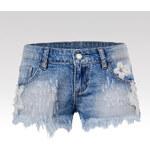 Glo-Story Kraťasy Fancy jeansové S