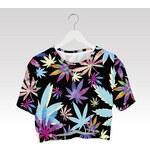 Wayfarer Crop-top tričko Weed color